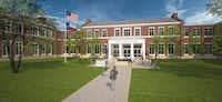 A 2015 rendering of a new Hyer Elementary School in Highland Park ISD.(Stantec)