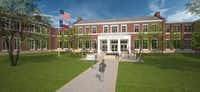 Rendering of a new Hyer Elementary School in Highland Park ISD. If the district s $361 million bond package passes in the Nov. 3 election, the old Hyer building would be torn down and the school would be rebuilt. The rendering is from Stantec, an architecture firm hired by the district to design the new schools.(Stantec)