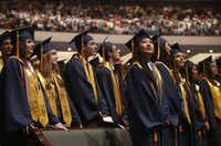 Members of the class of 2016 participated in the McKinney High School graduation ceremony at Prestonwood Baptist Church in Plano on June 3, 2016.(File Photo)
