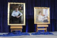 Portraits of former President George W. Bush and First Lady Laura Bush unveiled at the National Portrait Gallery in 2008(Evan Vucci/Associated Press)