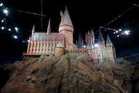 A model of Hogwarts castle from the Harry Potter film series is unveiled at the Warner Bros Studio Tour, Watford, London.(Jonathan Short/AP)