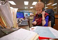 Sales supervisor Sandra White took an order over the phone at McShan Florist in Dallas on Feb. 12, 2018.(Jae S. Lee/Staff Photographer)
