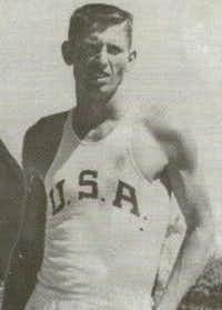 "David Eugene ""Dave"" Clark in his 1960 Olympic uniform"