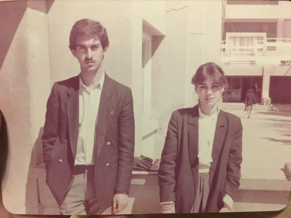 Faris Saleh and Zahraa Yahya Issa al Salihi pose as engineering students at an Iraqi university in the 1980s.(courtesy of Saleh family/Courtesy of Saleh family<div><br></div><div><br></div>)