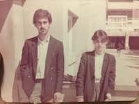 Faris Saleh and Zahraa Yahya Issa al Salihi pose as engineering students at an Iraqi university in the 1980s.(courtesy of Saleh family/Courtesy of Saleh family<div><br></div><div><br></div>)