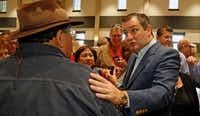 Earlier this month, Sen. Ted Cruz took time after a speech in New Braunfels to meet and greet those in attendance. Cruz was campaigning for congressional candidate Chip Roy while also campaigning for re-election to the Senate.(Ronald Cortes/Special Contributor)