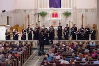 The Orpheus Chamber Singers performed at Saint Thomas Aquinas Catholic Church on April 8, 2017.(Robert W. Hart/Special Contributor)
