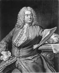 Handel by John Faber after Thomas Hudson mezzotint engraving, 1749, courtesy of the Handel House Museum  ((DMN file))