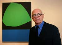 Ellsworth Kelly at the Dallas Museum of Art in 2004 (Nan Coulter/Special Contributor )
