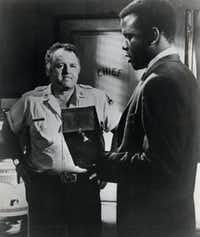 Rod Steiger, 1967 Academy Award winner, with Sidney Poitier in <i>In the Heat of the Night</i>.(Digital File)