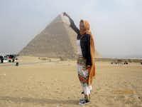 Cathleen Whitelow on a bucket list trip to Egypt in November 2016.