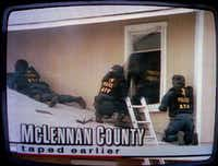 Bill Buford and his ATF teammates attempt to enter the compound's weapons storage room on the second floor.(KWTX-TV)