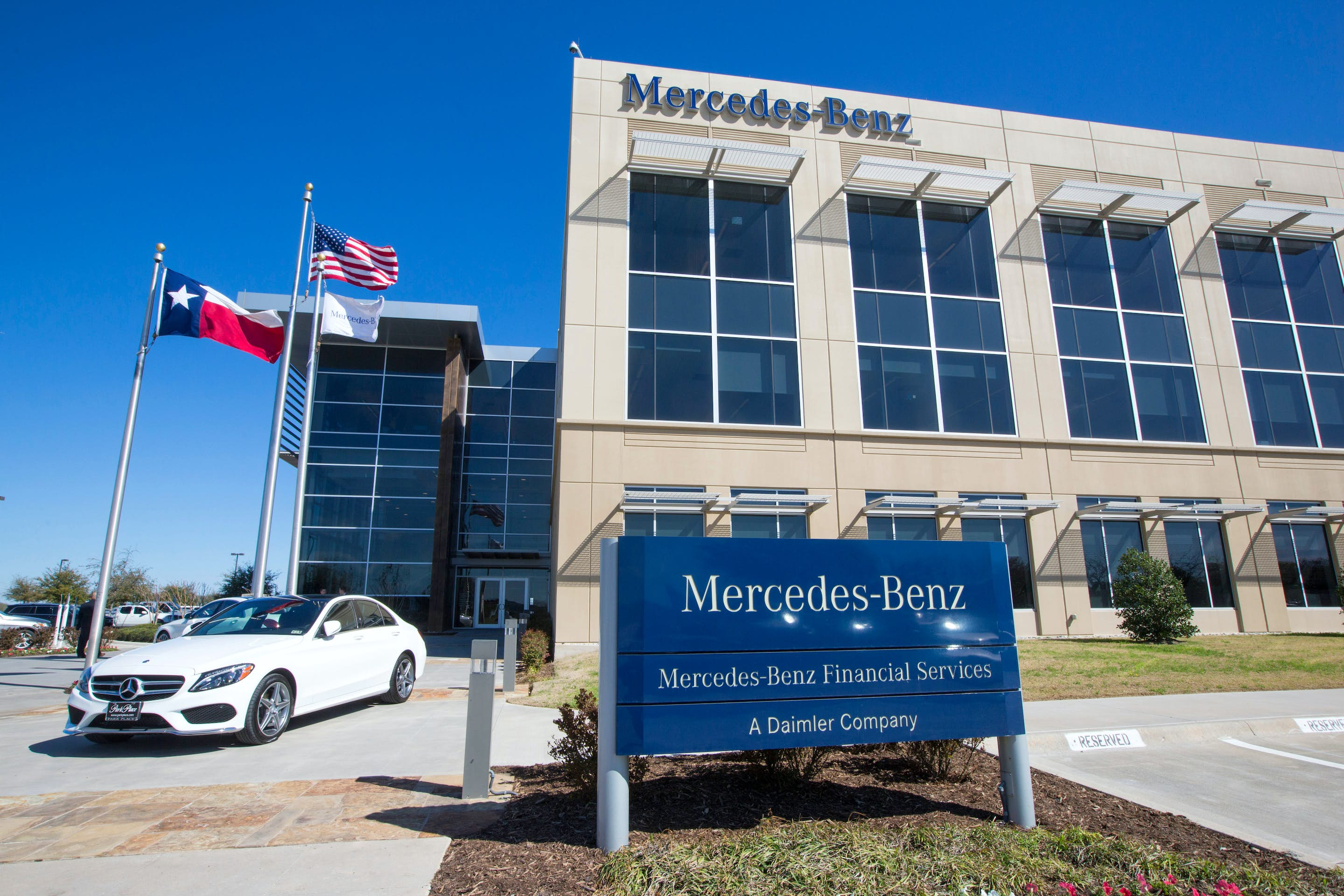 Mercedes benz starting work on new alliancetexas office for Mercedes benz service dallas tx