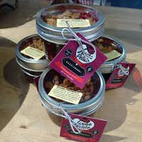 Celebration Market carries Texas Petite Pies & Cakes in a jar, including a luscious berry crumble. The artisanal baker has a wider line products just a few blocks away at its retail store. (Kim Pierce/Special Contributor)