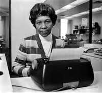 February 5, 1975 — Julia Scott Reed, <i>Dallas Morning News</i> columnist, is seen in this uncredited file photo.