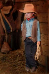 A 5-year-old Charles Scudder poses for a portrait at a horse ranch in Cincinnati, Ohio. Scudder, <i>The Dallas Morning News</i> Texana writer, moved to Texas when he was 6 years old.(Paul Scudder Photography)
