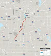 Work began Wednesday on with a groundbreaking for I-35E in southern Dallas