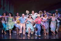 Christie Prades as Gloria Estefan with the cast of <i>On Your Feet!</i>presented by Dallas Summer Musicals at Fair Park Music Hall.(Rex C Curry/Special Contributor)