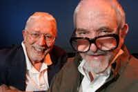 Tom Jones (left) and Harvey Schmidt.(Staff/2005 FIle Photo)