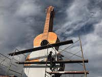 Locals in Paracho, Michoacan, are hoping the movie <i>Coco </i>wins an Oscar on Sunday to help them grow their economy and win recognition for the town's guitar makers.(Alfredo Corchado/Staff)
