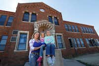 "<p>Amanda Litteken, with daughters Charlie, 5, and Brianne, 7, pose for a portrait in front of Harrold School, which they attend.&nbsp;Litteken said she feels ""really safe"" with her girls at the school.&nbsp;""We're in an outlying area so far away from first responders, it would take at least 30 minutes to get police to us,"" she said. ""If there was a shooter, they could take out our whole school.""</p>(David Woo/Staff Photographer)"