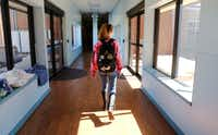 A student walks to class at Harrold School on Friday, March 2, 2018.(David Woo/Staff Photographer)