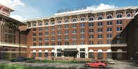 <p></p><p>The 121-room Hotel Vin planned for the project will be a Marriott Collection Autograph Hotel.</p><p></p>(Architexas)