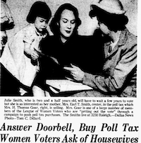 From the Jan. 27, 1949 edition of <i>The Dallas Morning News</i>