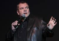 Michael Aday, better known as Meat Loaf, speaks at the Thomas Jefferson High School Alumni Association Distinguished Alumni Convocation at Thomas Jefferson High School in Dallas in 2015.(Jim Tuttle/Staff Photographer)