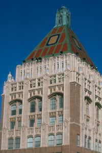 This undated photo provided by the Tulsa Regional Chamber shows the Philtower Building, one of the city's notable art deco treasures. (File Photo/The Associated Press)