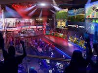 Esports Arena Las Vegas, which will boast a massive LED wall, is expected to host at least 25 major events annually.(Esports Arena Las Vegas/Courtesy)
