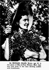 A 1939 image from <i>The Dallas Morning News'</i> archives of A'Pala Watson taken by Michael Blair of Bryan, who was only 13 years old.