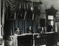 "The ""All-Women"" court in 1925.<br>(Supreme Court of Texas)"