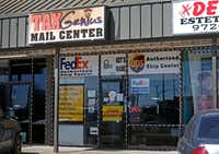 Tax Genius Mail Center at 111 East Centerville Road in Garland. (Jae S. Lee/Staff Photographer)
