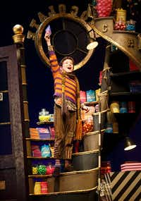 Ryan Sell as as Charlie Bucket in Roald Dahl's <i>Charlie and the Chocolate Factory</i>,  shown in a 2017 production in New York City. <i>Charlie and the Chocolate Factory </i>is part of the AT&T Performing Arts Center's six-show 2018-19 Broadway Series.(Joan Marcus)