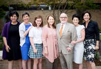 From left: Robin Kramer, Jessica Kramer, granddaughter Bebe Sullivan, Joan Kramer, Dr. Robert Kramer, Lisa Kramer Morgan and Megan Kramer.(Allison V. Smith)