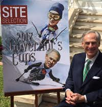 "<p><span style=""font-size: 1em; background-color: transparent;"">Gov. Greg Abbott accepted Site Selection Magazine's 2017 Governor's Cup at the Governor's Mansion on Thursday. Sitting beside a mockup of the magazine's cover, Abbott said he had tried paralympic alpine skiing ""multiple times"" in Colorado. The last time he did it was about 10 years ago, he said. </span></p>(Robert T. Garrett/Staff Writer)"