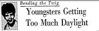 Ann Melvin's column Aug. 2, 1967 in <i>The Dallas Morning News</i>