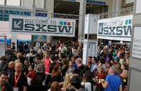 South by Southwest lures hundreds of thousands of visitors to Austin each year.(Jack Plunkett/The Associated Press)