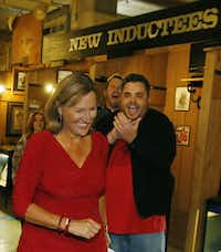 Konni Burton is all smiles as she is cheered on by supporters after being declared the winner of the District 10 state Senate seat  at her election party at the Stockyards Museum in Fort Worth on Nov. 4, 2014.(2014 File Photo/Louis DeLuca)