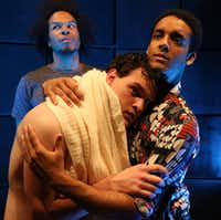 From left: Djore Nance, Justin Duncan and Aaron Green perform in Robert O'Hara's 'Bootycandy' Aug. 11-Sept. 11 at Stage West in Fort Worth.(Buddy Myers)