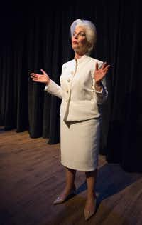 """Linda Kay Leonard as Ann Richards in the Stage West production of Holland Taylor's one-woman show, """"Ann,"""" at Stage West Theatre in Fort Worth.(Robert W. Hart/Special Contributor)"""