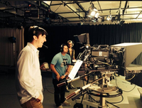 Trevor Cadigan (left) behind the camera at SMU.((Michele Houston via Facebook))