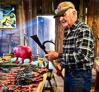 Former advertising executive Bob Denman only partially retired. He became a blacksmith and created his own line of gardening tools.(Richard Grant/Special Contributor)