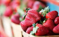 Strawberries from Highway 19 Produce & Berries(Vernon Bryant/Staff Photographer)