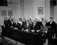 The selected jury for the Jack Ruby trial, which unanimously found him guilty. (Eamon Kennedy/The Dallas Times Herald)