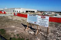 CyrusOne is constructing a 340,000-square foot data center facility adjacent to the TierPoint data center in Allen.(David Woo/Staff Photographer)