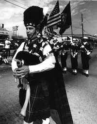 March 16, 1992: Greenville Avenue Saint Patrick's Day parade(Ira Rosenberg/The Dallas Morning News)