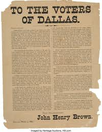 The broadsheet going up for auction Saturday.(Courtesy Heritage Auctions)