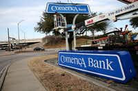 The Comerica Bank location along Central Expressway and Spring Valley Road in Richardson.(Andy Jacobsohn/Staff Photographer)